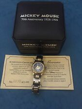 RARE Kids Boys Mickey Mouse Watch Disney  collection 38 Of 1000 Anniversary 1998
