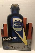1940s REXALL DRUG Advertising CARDBOARD PHARMACY COUNTERTOP Milk of Magneisa