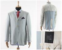 Mens PAL ZILERI Blazer Coat Jacket Wool Nylon Light Blue Size 42 L 52