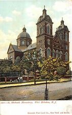West Hoboken New Jersey St. Michaels Monastery Antique Postcard V9675