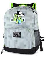 Sporttasche F/ür Jungs Lizenzierter Minecraft Rucksack im Creeper Design Schulranzen Schultasche Minecraft Creeper Rucksack f/ür Jungen Sporttasche Schulrucksack Jungen Teenager