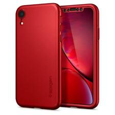 "Spigen iPhone XR (6.1"") Case Thin Fit 360 Red (Glass Screen Protector)"