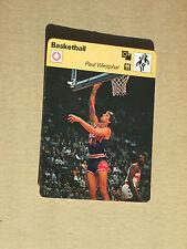 FICHE CHAMPION BASKETBALL NBA PAUL WESTPHAL PHOENIX SUNS   USA 1979