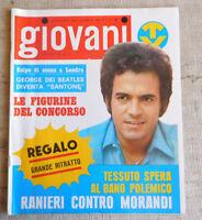 GIOVANI TV n.43 1969 POSTER  Aphrodite's Child, George Harrison, Ranieri, Rokes