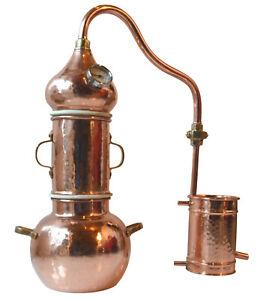 High-End Kolonnenbrennerei aus Kupfer 2 L Thermometer - Destille ätherische Öle