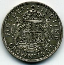 GREAT BRITAIN KING GEORGE VI 1937 CROWN KM-847 419,000 MINTED XF