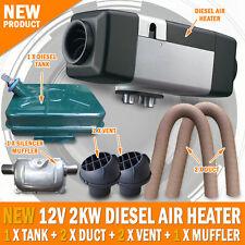 NEW Planar 12 Volt 2KW Diesel Air Heater Metal Tank 2 x Vent, Duct, Muffler