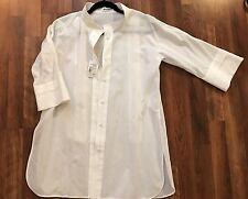 Jil Sander Hidden  Shirt Tunic 3/5 Sleeves White Size 36 $610