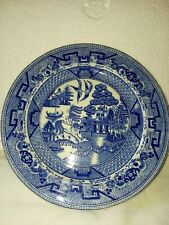"""1 Semi China Willow Blue 8"""" Bread/luncheon Plate"""