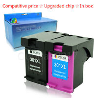 2 Non-OEM Replace HP 301 301XL Compatible Ink Cartridge Black & Colour