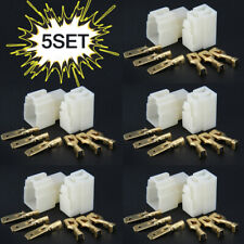 5Sets 6.3mm 3pin Automotive Electrical Wire Connector Male Female Cable Terminal