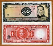 El Salvador, 1 Colone, 1972, P-115, UNC > Columbus, Pre-USD$