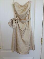 White House Black Market Women's Dress Beige Ivory Size 6 EUC