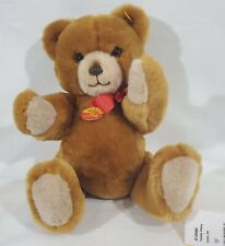 "LM VINTAGE Steiff 012082 13"" Petsy Soft Plush Brown Teddy Bear Toy Jointed NEW"