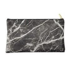 Marble Leather Pencil Pen Case Cosmetic Makeup Toiletry Case Storage Bag Purse
