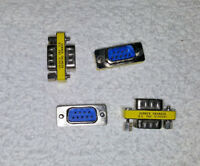 QTY (4) DB9M/M RS232 GENDER CHANGER MALE-MALE COUPLER ADAPTER..FREE SHIPPING