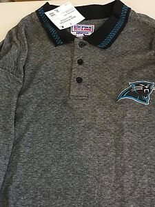 NFL CAROLINA PANTHERS  STARTER ORIGINAL PANTHERS NFL POLO SHIRT FREE SHIPPING!