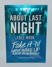 NEW VICTORIA'S SECRET PINK ABOUT LAST NIGHT FACE MASK 1 SHEET WAKE UP BLUEBERRY