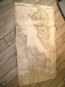 Vintage Admiralty Chart 3422 SCOTLAND - HEBRIDES LEWIS - EAST LOCH ROAG 1904 edn