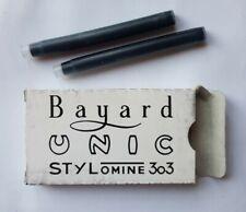 Cartouche d'encre pour stylo plume BAYARD, UNIC et STYLOMINE 303 -  très rare