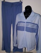 Adidas NWT Woman's Light Blue/Atlan Blue Tracksuit Warm Up Suit Size M