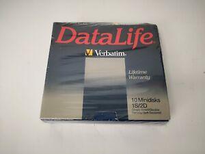 VERBATIM 1S/2D DATALIFE SINGLE SIDED MINIDISKS MD 525-01 * 10 MINIDISKS *