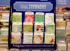 Closeout Lot of 10 HALLMARK SYMPATHY Cards 6 General,1 each Mom,Dad,Wife,Husband