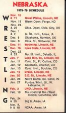 1978-79 Nebraska Wrestling Schedule 101917jh