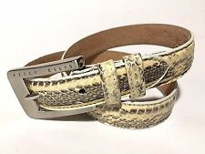 Vintage Perry Ellis Women's genuine snakeskin leather belt - Small
