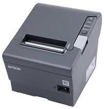 Epson TM-T88V Thermal Receipt Printer, USB/Serial Interface, Dark Grey (New)