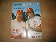 1972 Chicago White Sox Baseball Program -- Excellent Condition
