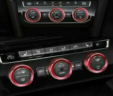 Passend zu VW Tiguan T-Roc T-Cross Passat Ringe Heizungsregler Klima Blende Rot
