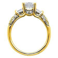 14k Solid Yellow Gold Man Made Diamond Wedding Engagement Ring