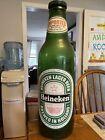 """VTG 1960's Plastic Heineken Beer Bottle Advertising Display 24"""" Tall Bar Decor"""
