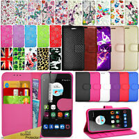 For ZTE Blade V7 - Wallet Leather Case Flip Stand Cover + Screen Protector