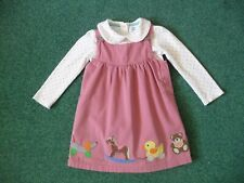 Baby Boden Toybox Pinafore & Bodysuit 18-24 Months Girls Dress Outfit Pink Mini