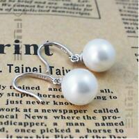 Women 925 Sterling Silver Elegant Pearl Enchanting Woman's Dangle Earrings
