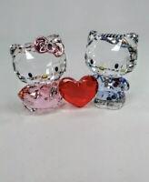 Swarovski Crystal Love Figurines HELLO KITTY & DEAR DANIEL - 5428570 New