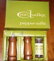 Vintage Salt and Pepper Shaker & Pepper Mill Mr Dudley Wood  Dudley Kebow NIB