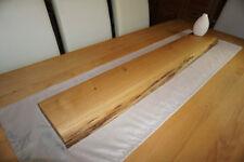 Wandboard Baumkante Eiche 125 cm Regal Regalbrett Board Steckboard Massivholz