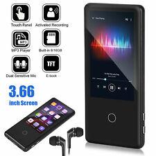 MP3 Player Bluetooth 5.0 Full Touch Screen 8/16GB FM Radio Recording Music Media