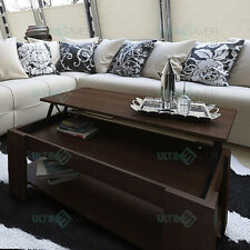 NEW Modern Lift Top Coffee Table Mechanical Lifting Convertible Interior Storage
