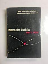 Mathematical Statistics John E. Freund Hardcover Dust Jacket HC DJ 1962