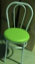 Sedia vienna thonet in metallo struttura grigio seduta finta pelle verde mela