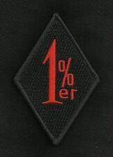 1%ER MC OUTLAW ONE PERCENTER MOTORCYCLE BIKER PATCH - BLACK & RED