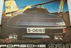 Original Vintage RARE Porsche 924 Dealer Poster (1980)
