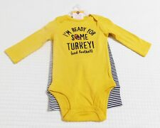 Carters Thanksgiving Ready for Turkey & Football Infant Outfit (SIZE 6 Months)