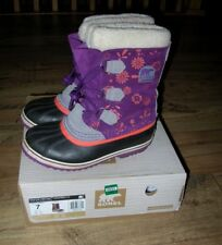 SOREL YOUTH 1964 PAC GRAPHIC BOOTS WATERPROOF REMOVABLE SOLE SHOES US 7 EU 39