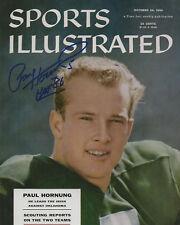 "PAUL HORNUNG Autographed Signed 8"" x 10"" Photo Notre Dame Irish Football COA"