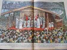 Camroun à Edea 4 prêtes indigènes devaient être ordonnés Print 1936